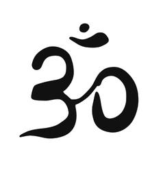 Ohm symbol on white background vector image vector image