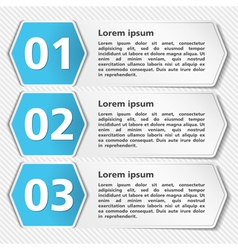 Papper Banners with Numbers vector image