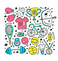 sport clipart elements vector image vector image