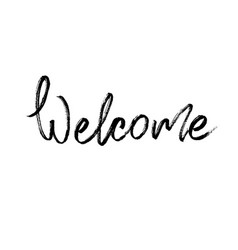 welcome modern brush calligraphy vector image