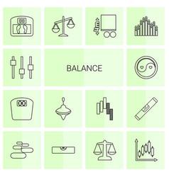 14 balance icons vector