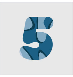 5 water font template design vector