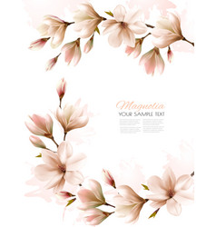 abstract spring background with white magnolia vector image