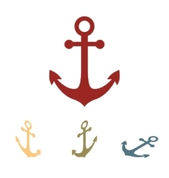 Anchor icon set Isometric effect vector image