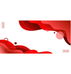 banner web template red fluid or liquid shape vector image