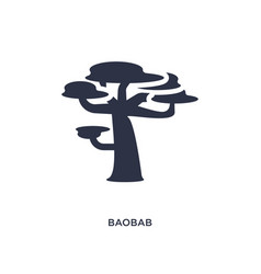 Baobab icon on white background simple element vector