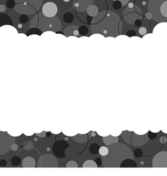 Black And White Graphic Background With Space vector image