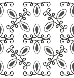 black and white seamless patterns vector image