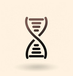 Black dna icon deoxyribonucleic acid symbol vector