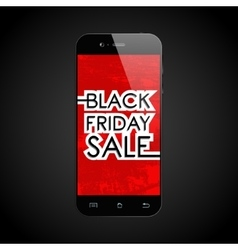 Black friday sale smartphone vector image