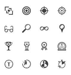 Business icons set for leadership concept vector