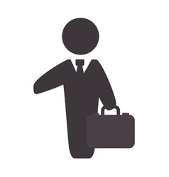Businessman with suit and briefcase vector