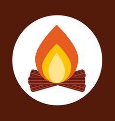 Campfire icon design vector