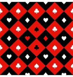 Card Suits Red Black Diamond Background vector image