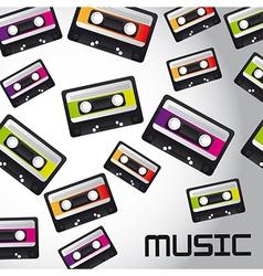Cassette tape background vector