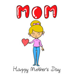 character mother for mother day vector image