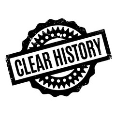 Clear history rubber stamp vector