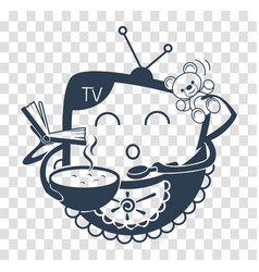 concept of child television black vector image