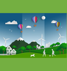 concept of eco friendly and save the world vector image