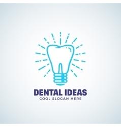 dental ideas abstract logo template vector image