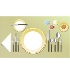 Elegant table dinner setting vector