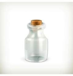 Empty jar icon vector image