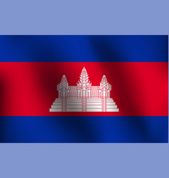 flag of cambodia vector image