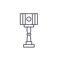 floor design lamp line icon concept floor design vector image