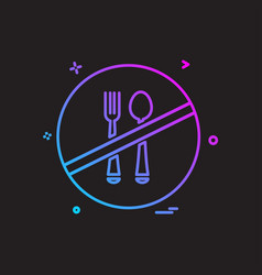 food not allowed icon design vector image