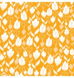Golden tulips flowers seamless pattern background vector image