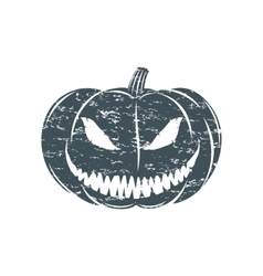 Grunge Halloween pumpkin vector