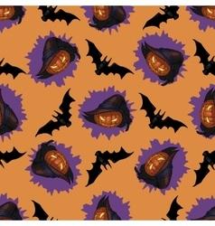 Halloween Jack-o-lantern seamless pattern vector image