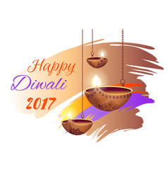 Happy diwali 2017 poster on vector