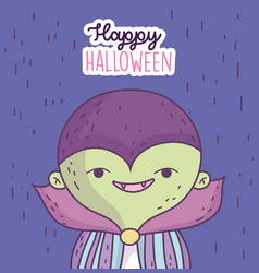 happy halloween celebration boy with monster vector image