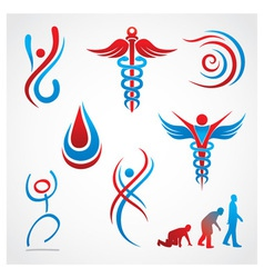 Health medical symbols vector