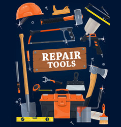 house repair and construction hand tools vector image