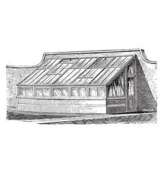 Lean to house vintage vector