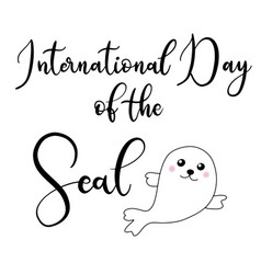 lettering for day of the seals vector image