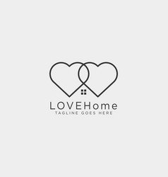 love home line logo template icon element isolated vector image