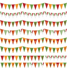 Mexican party bunting vector