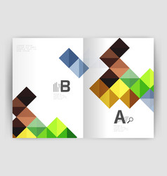 Minimalistic square brochure or leaflet business vector