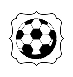 Monochrome frame with soccer ball vector