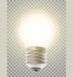 naturalistic lit glowing light bulb lighting vector image