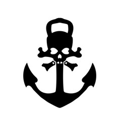 nautical pirates anchor isolated icon ship vector image