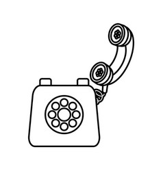 old telephone isolated vector image
