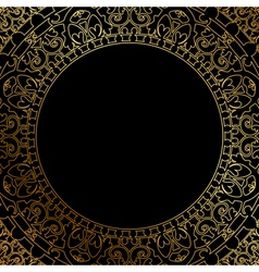 Oriental ornament on black background vector