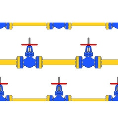 Pipeline valve pattern vector image