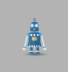 retro vintage funny robot icon in flat vector image