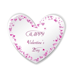Romantic pink heart background frame vector image