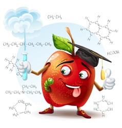 School scholar apple with harmful substance vector